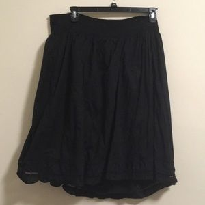 2/$15 Merona Midi Black Embroidered Skirt 3